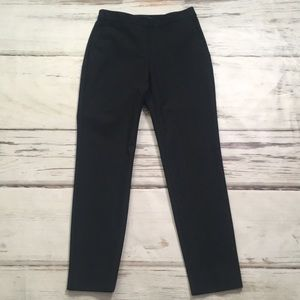 Theory Pants Black Flat Front Pull On Tapered 00